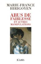 """Couverture du livre : """"Abus de faiblesse et autres manipulations"""""""