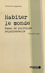"""Couverture du livre : """"Habiter le monde"""""""