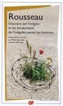 """Couverture du livre : """"Discours sur l'origine et les fondements de l'inégalité parmi les hommes"""""""