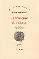 """Couverture du livre : """"La tristesse des anges"""""""