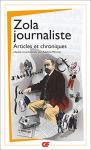 """Couverture du livre : """"Zola journaliste"""""""