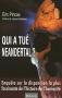 """Couverture du livre : """"Qui a tué Néandertal ?"""""""