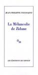 """Couverture du livre : """"La mélancolie de Zidane"""""""