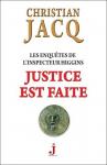 """Couverture du livre : """"Justice est faite"""""""