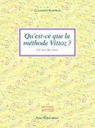 """Couverture du livre : """"Qu'est-ce que la méthode Vittoz ?"""""""