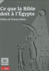 """Couverture du livre : """"Ce que la Bible doit à l'Égypte"""""""