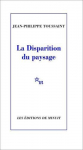 """Couverture du livre : """"La disparition du paysage"""""""