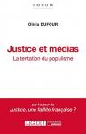 """Couverture du livre : """"Justice et médias"""""""