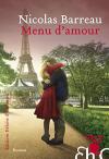 """Couverture du livre : """"Menu d'amour"""""""