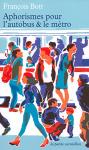 """Couverture du livre : """"Aphorismes pour l'autobus et le métro"""""""