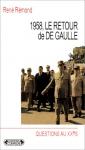 """Couverture du livre : """"1958, le retour de De Gaulle"""""""